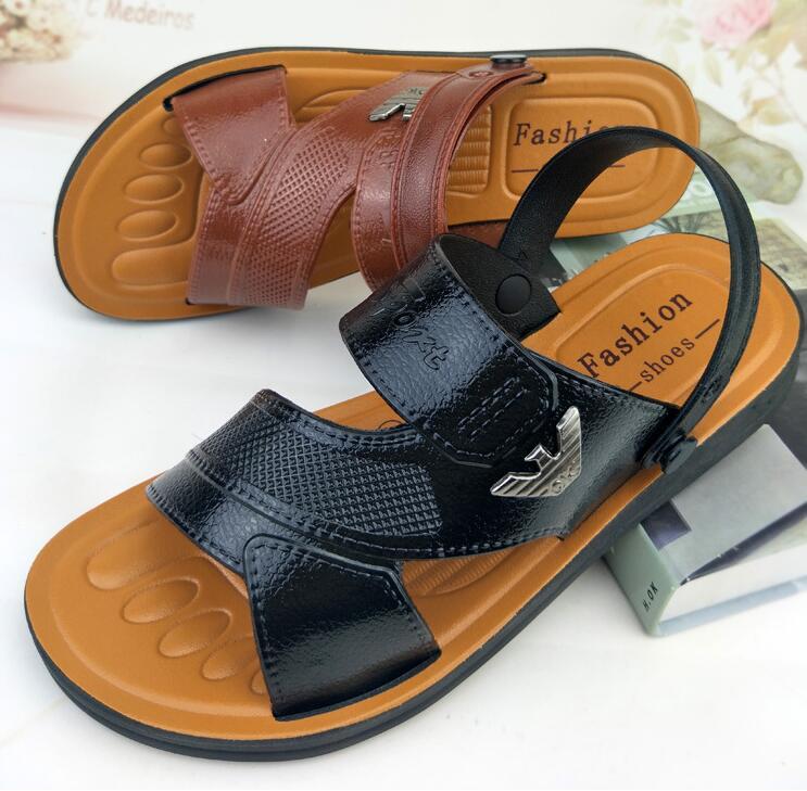 Männer Leichte 2018 Freies Verschiffen Große Größe Sommer Klassische Sandalen Einfarbig Outdoor Sandalen Auf Verkauf 020
