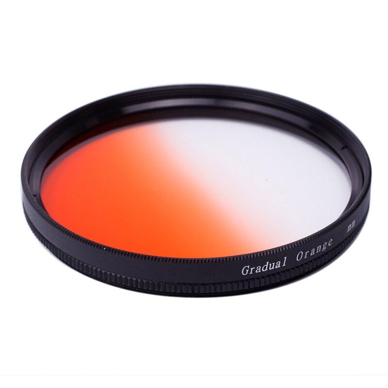37mm 1set 37mm 40.5mm 43mm 46mm 49mm 52mm 55mm 58mm 62mm 67mm 72mm 77mm 7Pcs Graduated Color Gradual Blue Grey Green Orange Red Purple Yellow Lens Filter Protector