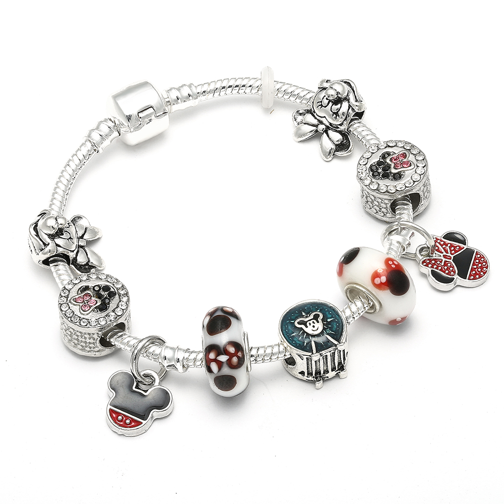 Mickey Mouse Charm Bracelet: European Style Mickey Mouse Pandora Bracelets & Bangle For