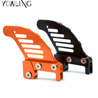Motorcycle CNC Aluminum Orange Autobike Rear Brake Disc Guard Potector For KTM 400 XCW 2007 2014