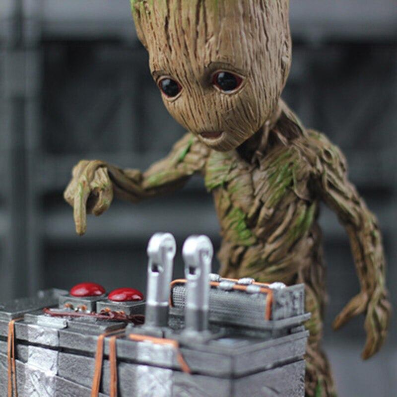 Moward Groot Wisun película Hombre árbol bebé figura de acción héroe modelo guardianes de la galaxia juguete modelo decoración de escritorio regalos para el cabrito