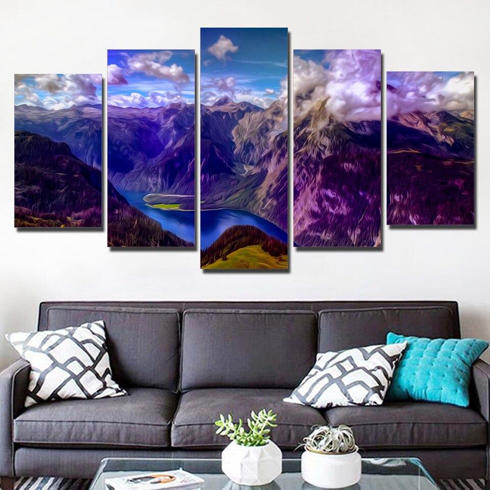 5 Teile/satz Gerahmte HD Gedruckt Canyon Landschaft Bild Wandkunst ...