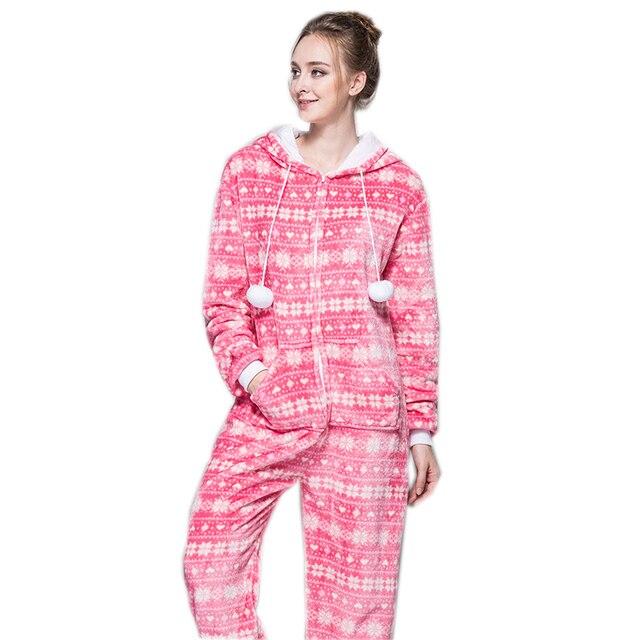 6f58daa720 Cremallera pijama Navidad mujeres nieve Rosa pijamas onesie para  adolescentes señora adultos venta mejor pijamas en