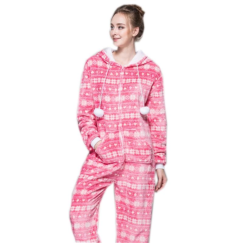 Christmas Pajamas Onesie.Us 26 39 20 Off Zipper Pyjama Christmas Women Snow Pink Pajamas Onesie For Teenagers Lady Adults Selling Best Pijamas In Chinese Market Online On
