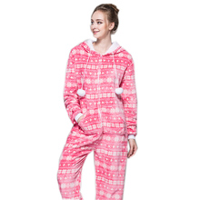 Zipper Pyjama Christmas Women Snow Pink Pajamas Onesie For Teenagers Lady Adults Selling Best Pijamas In Chinese Market Online