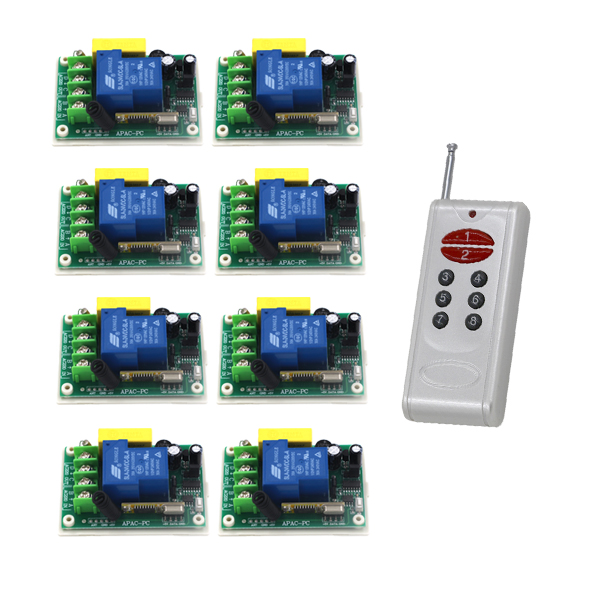 все цены на Free Shipping 220V 30A 1CH 3000W Power Switch Learning Code RF Wireless Remote Control Switch Momentary 315MHZ 433MHZ SKU: 5509