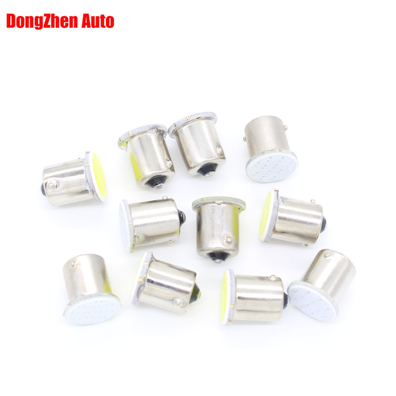 Dongzhen LED Car 24V 1156 BA15S 1 COB H18 Source Auto Turn Signal Reverse Light Interior Packing Lamp Xenon Car Styling 10pcs 1156 ba15s p21w xenon led light 80smd auto car xenon lamp tail turn signal reverse bulb light free shipping