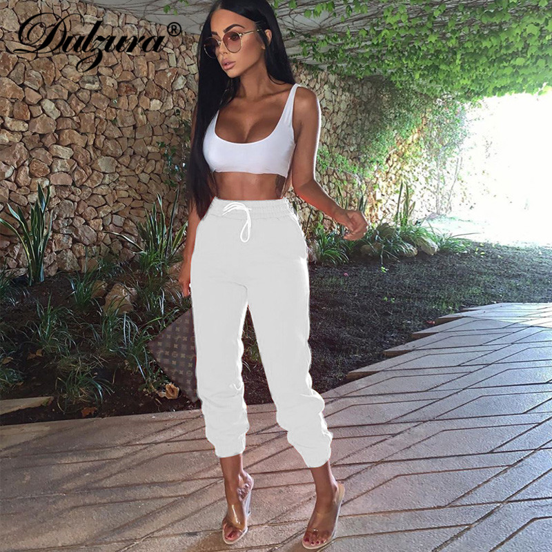 Dulzura 2019 Summer Women Jogger Pants Streetwear Cargo Pants Trousers Casual Sweatpants High Waist Plus Size Loose Clothes
