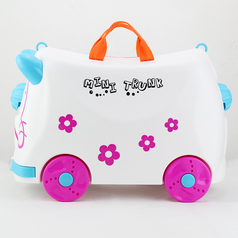 Ride On Suitcase For Kids Carry On Rolling Luggage Suitcases