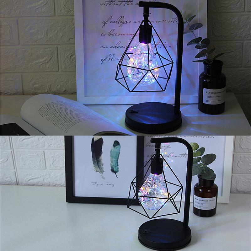 Shop For Decorative Iron Cage Desk Lamp Uberlightingstore