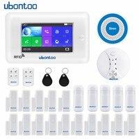 Ubontoo сигнализации все Сенсорный экран Alexa версии 433 мГц GSM WI FI умный дом мониторинга безопасности охранной Системы Наборы