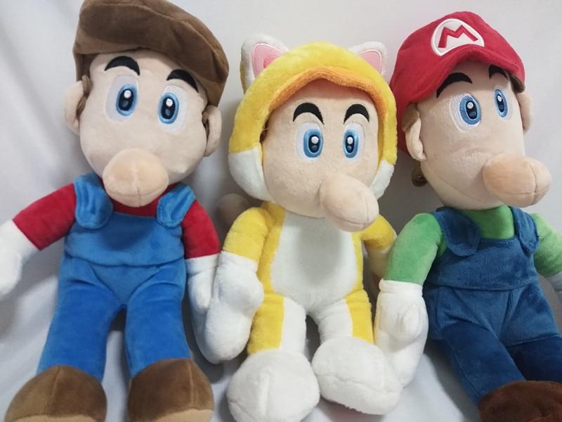 3stye 30cm Super Mario Bros Luigi Plush Toys Super Mario Stand Mario Brother Stuffed Toys Soft Dolls For Children High Quality