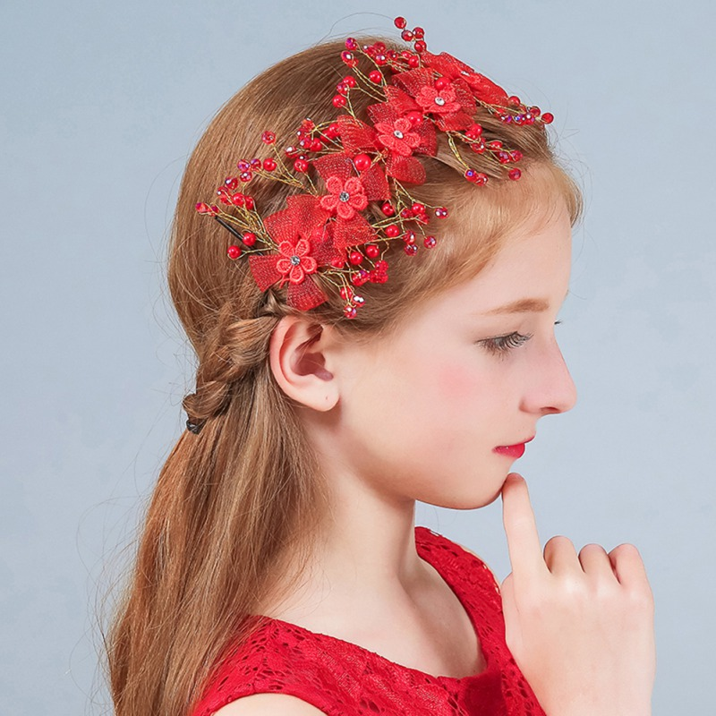 New Vintage Women Girls Bead Hairband Elegant Headband Hair Holder Headwear Head Band Hair Band Sweet Hair Accessories
