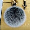 The fox fur ball bag pendant pendant cute plush fur fur ball pendant jewelry car key pendant