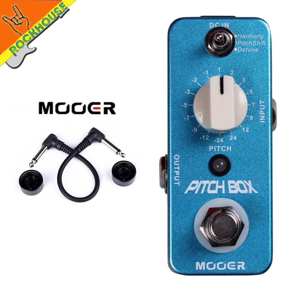MOOER Pitch Box Guitar Effects Pedal 3 Effects Modes Harmony Pitch Shift Detune True Bypass Free