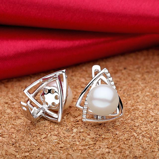 Pearl 925 Sterling Silver Fine Jewelry Set