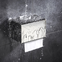 Toilet paper towel box toilet drill-free stainless steel 304 drawer  shelf waterproof holder