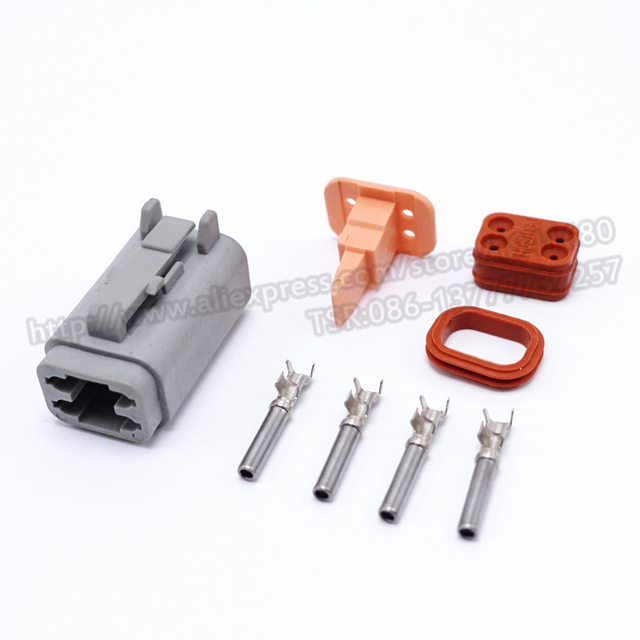 4 pins enhanced seal waterproof electrical wire connector plug male rh aliexpress com Deutsch Connector Kit Deutsch Connectors Catalog