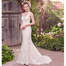 Verngo Mermaid Wedding Dress Lace Appliques Gowns Backless Bride Spaghetti Straps Boho Suknia Slubna