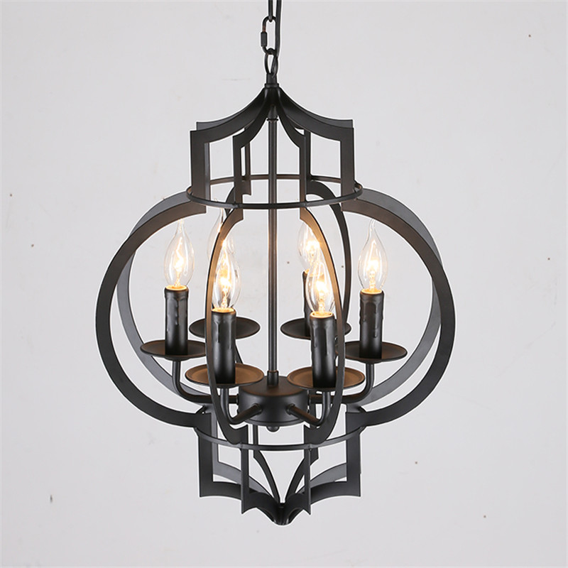 Vintage Style lamp European Industrial metal pendant light E14 base droplight for restaurant home decoration Guest Room 6 lampVintage Style lamp European Industrial metal pendant light E14 base droplight for restaurant home decoration Guest Room 6 lamp