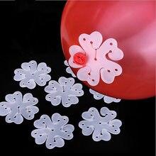 30 50 pçs/lote Flor festa de Aniversário de casamento Balões Decoração Acessórios Ameixa Clipe Prático Grampo Plástico Globos de balão
