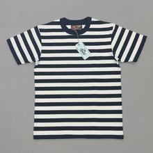 בוב דונג 2cm פסי מלחים של טי חולצות Mens צוות צוואר גבול חולצות Slim Fit