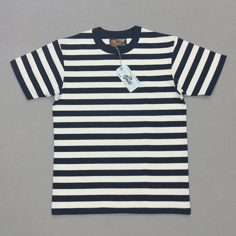 3001.22руб. 37% СКИДКА|BOB DONG 2 см полосатые матросские футболки мужские футболки с вырезом лодочкой облегающие|Футболки| |  - AliExpress