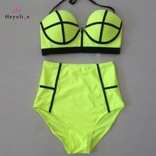 Sexy High waist Bikini Set Swimsuits Women Push Up Bikinis HighWaist Zipper Bathing Suits Vintage Swimwear Retro Biquinis