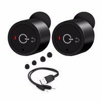 Protable Wireless Earbuds Twins True Stereo Bluetooth In Ear Earphone Hands Free Earpiece With Mic