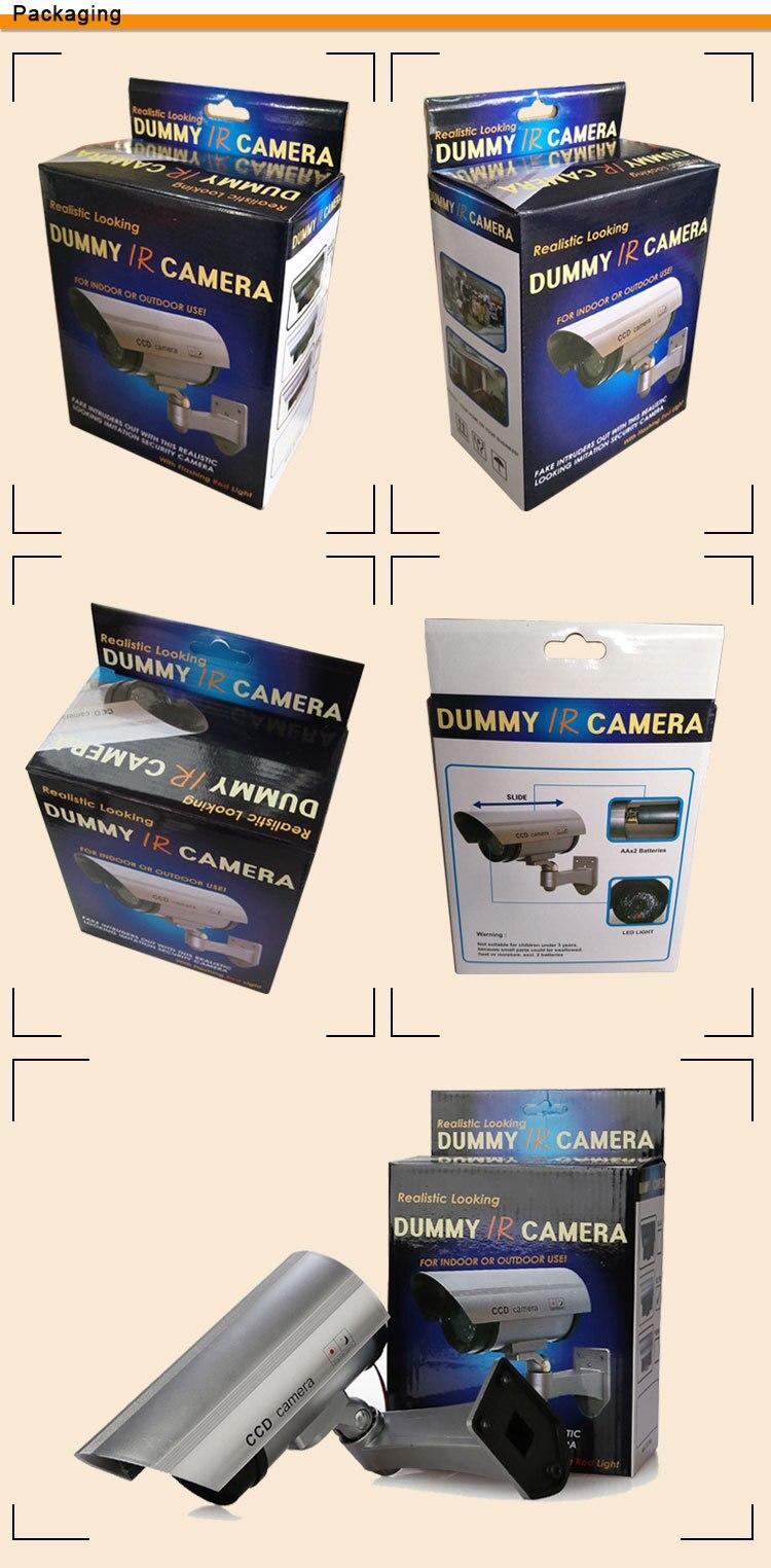 2pcs AA Battery Powered Indoor/Outdoor Dummy fake CCTV Security camera waterproof
