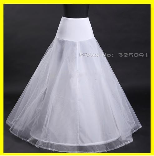 new a line stock white solid muslin petticoat for bridal ball gowns