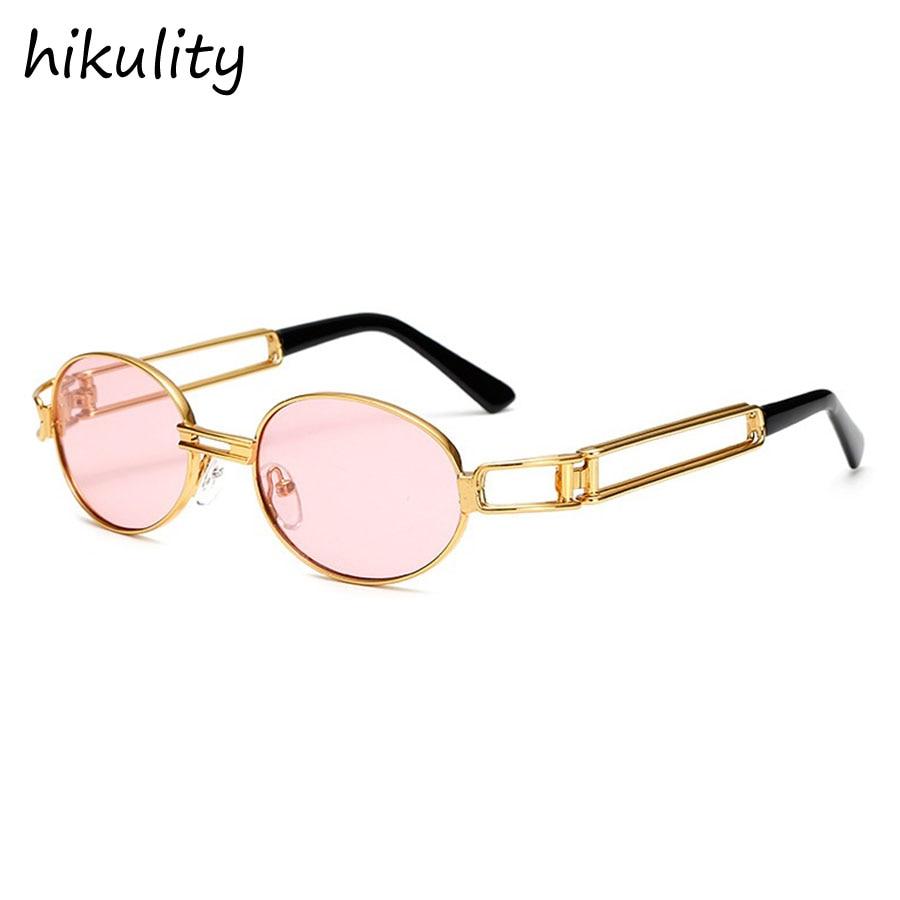 Ronde Steampunk lunettes de Soleil Femmes Vintage Hommes De Luxe Marque  Punk lunettes de Soleil Or f4f3a86cae34