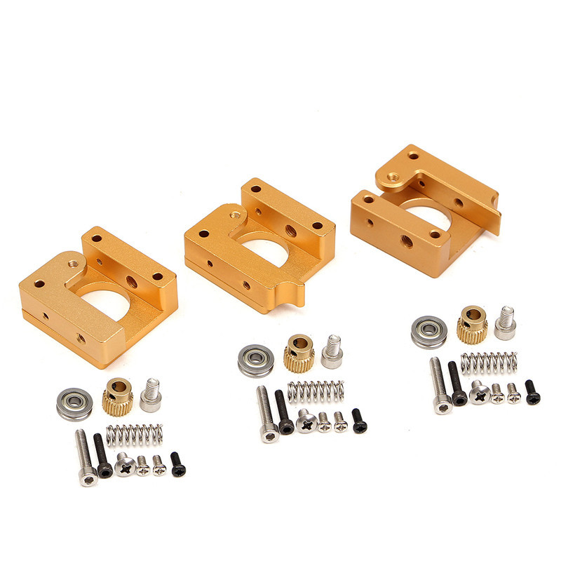 3D Printer MK8 Extruder Aluminum block DIY kit extrusion Makerbot MK8 Extruder dedicated single nozzle head aluminum block kit