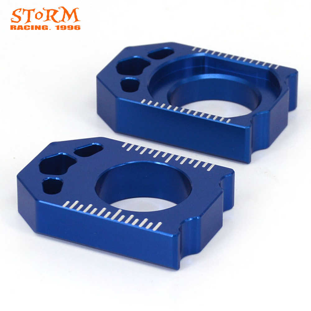 Motorcycle CNC Blue Axle Block Chain Adjuster For YAMAHA YZ250F YZF 250  2012 2013 2014 2015 2016 YZ450F YZF 450 2010-2016