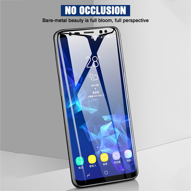Image 4 - 111D Full Curved Protective glass on for Samsung Galaxy S8 S9 S6 S7 edge Plus Screen Protector Tempered Glass on Note 8 9 Film-in Phone Screen Protectors from Cellphones & Telecommunications