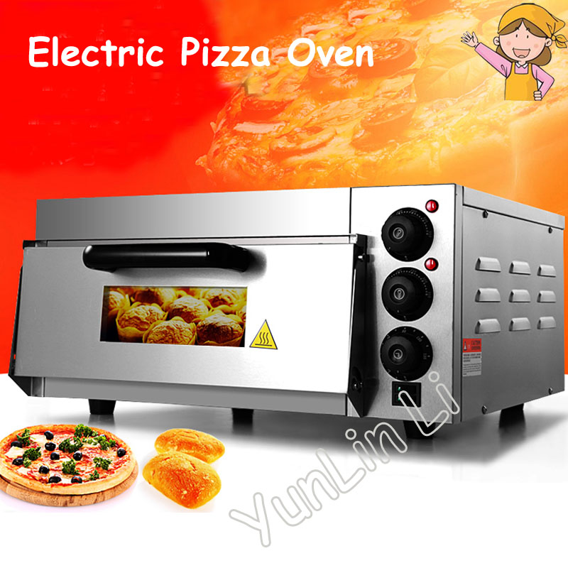 Electric Pizza Maker Stainless Steel Commercial Thermometer Single Pizza Oven/ Mini Baking Oven/ Bread/ Cake Toaster Oven EP-1ST vintage christmas deer horn wedding invitation gift wax seal sealing stamp sticks spoon gift box set kit