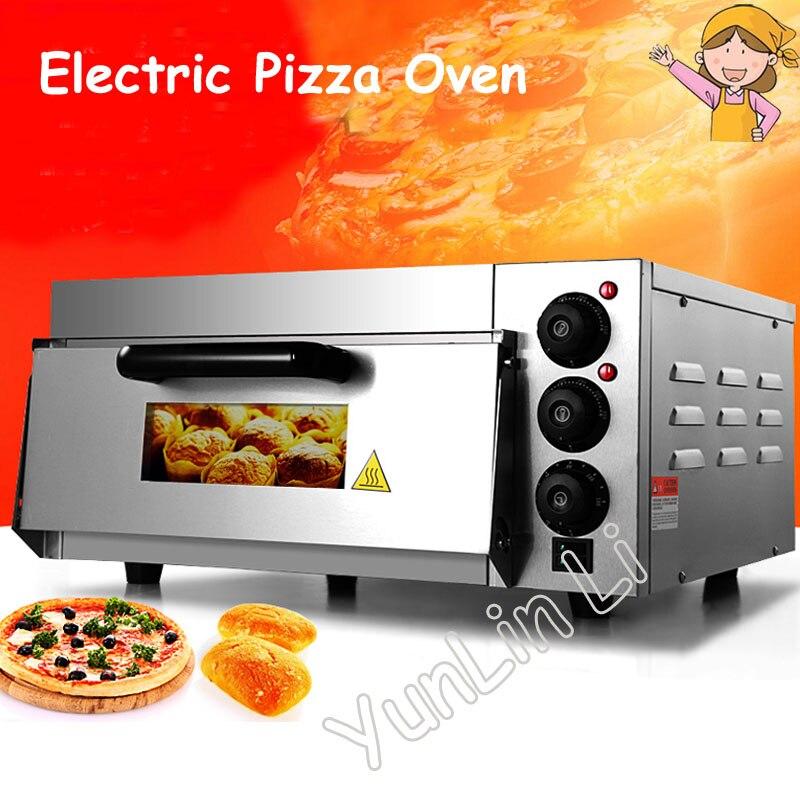 Four à Pizza électrique four à micro-ondes acier inoxydable thermomètre Commercial simple Pizza/pain/gâteau grille-pain four EP-1ST