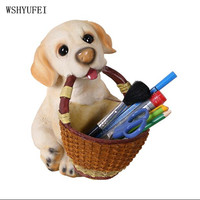 WSHYUFEI Key storage box Dog Decoration creative living room porch practical craft furnishings room bedroom desktop