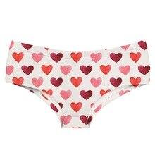 LEIMOLIS red heart white funny print sexy hot panties female kawaii Lovely underwear push up briefs women lingerie thongs