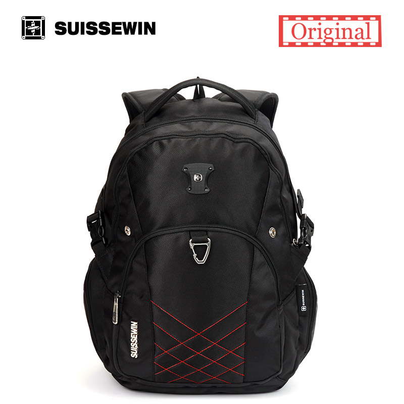 Suissewin swiss 14 15 Laptop Backpack for Business Travel Men's Casual Male Bagpack Student School Bag Sac a dos mochina dy0606 ladies bag 15inch women backpack suit for 14 15 notebook laptop bag student school bag travel mountaineering bag