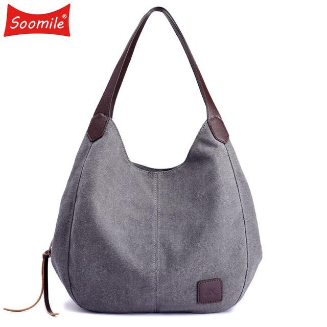 8161c0a0dc7e Soomile Jean Handbags 2018 brand Women Bag Big Hobo Purses Large Ladies  Hand bags Jean Shopper Tote Luxury Designer Shouder Bag
