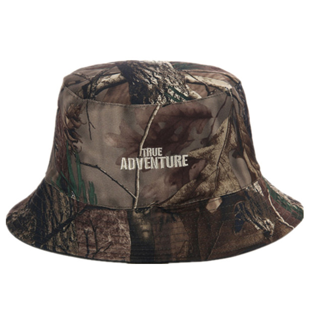 4955028d1f3d9 Outdoor Adult Unisex Hunting Camo Cap Army Military Bionic Camo Bucket Hat  Hiking Sunshade Fisherman Hats Double-facedCasquette