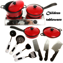 CongMingGu 13pcs/set Baby Toy Artificial Tableware Kitchen Toys House Kid's Utensils Cooking Pots Children Pans Food Dishes