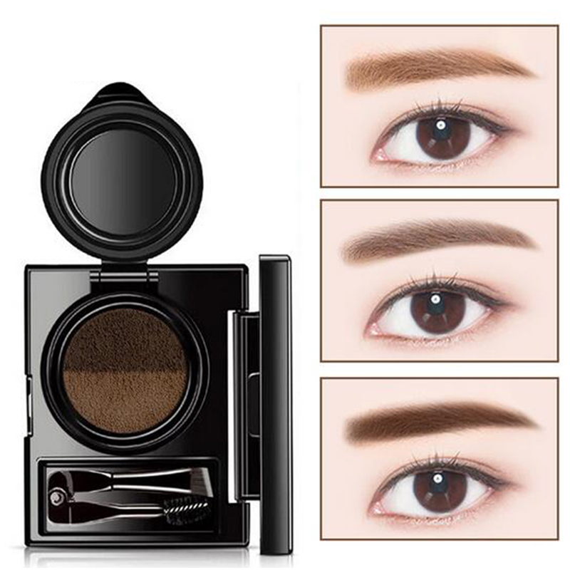 1pc Eyebrow Dye Cream Eyebrows Powder Natural Air Cushion Double Color Eyebrows Seal Waterproof Mascara Eye Makeup Cosmetics Beauty Essentials Back To Search Resultsbeauty & Health