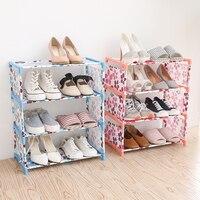 5 층 신발 랙 휴대용 홈 선반 방진 신발 스토리지 옷장
