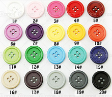 Buttons mix 20 colors Resin Sewing total 20pcs 4 hole Assorted apparel Button Scrapbooking Crafts Accessory