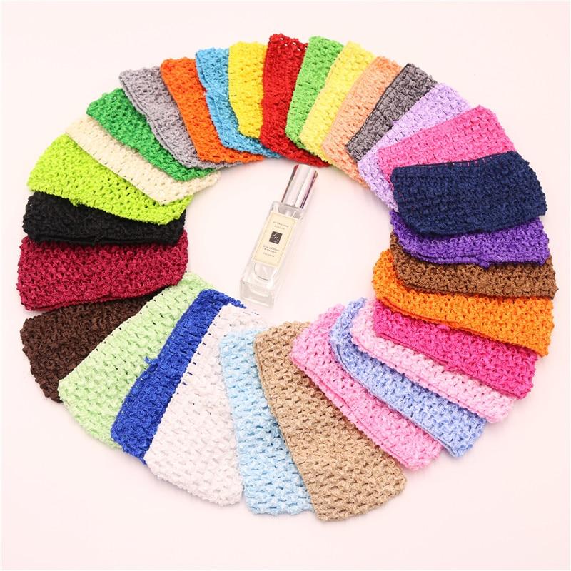 4pcs/lot 14*7cm Children Crochet Hair with High Elastic Solid Woven Belt Tube Tutu Tops Wrap Chest DIY Baby Girls Skirt