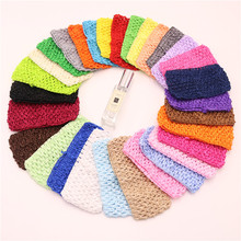 4pcs/lot 14*7cm Children Crochet Hair with High Elastic Solid Woven Belt Tube Tutu Tops Wrap Chest DIY Baby Girls Skirt