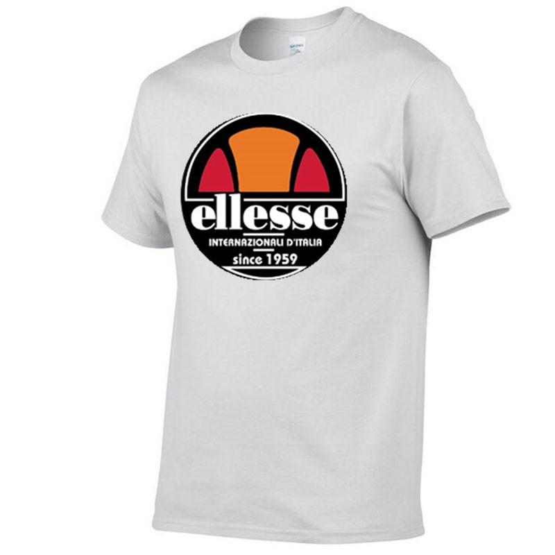 2019 summer Men's   T  -  Shirts   creative design printed ellesse logo   T  -  shirt   hip hop blouse men's sportswear   t     shirt   men harajuku