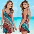 2016 Женщины Сексуальная Summer Beach Платье Повседневный Платье Без Рукавов